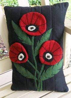 Pillow-Wool Felt Applique