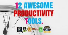 My personal list of 12 productivity tools will help you to spend less time working while getting more done so you can have as much fun as possible!