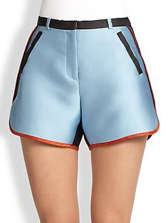 Ostwald Helgason Colorblock Satin Shorts