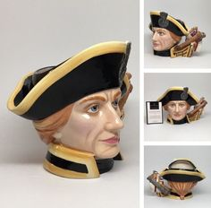 "Large Royal Doulton Character Jug ""Lord Horatio Nelson"" Toby Mug D7236 | eBay"