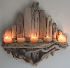 ~*~ GORGEOUS DRIFTWOOD CANDLE SCONCE SHELF ~*~ By Devon Driftwood in Home, Furniture & DIY, Home Decor, Other Home Decor | eBay