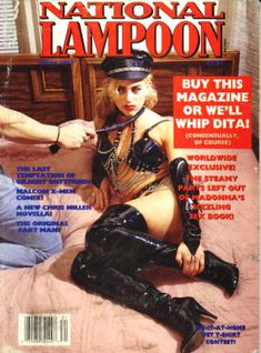 National Lampoon Magazine, Heavy Metal Comic, Rolling Stone Magazine Cover, Damsels In Peril, Pink Movies, Girl Spanked, American Humor, National Lampoons, Pulp Magazine