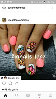 Summer Manicure Designs, Manicure And Pedicure, Gorgeous Nails, Pretty Nails, Pink Nails, Toe Nails, Nail Picking, Chic Nails, Nail Decorations