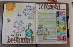 God's creations on days 1 through 6.  Genesis 1