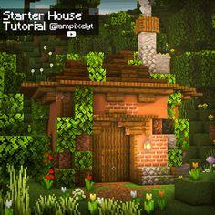 Minecraft House Plans, Minecraft Cottage, Easy Minecraft Houses, Minecraft House Tutorials, Minecraft Castle, Minecraft Room, Minecraft House Designs, Amazing Minecraft, Minecraft Blueprints