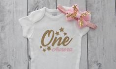 Star First Birthday Onesie  twinkle twinkle little star one