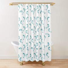 Cute Unicorn, Blue Tones, Surface Pattern Design, Bath Mats, Art Prints, Printed, Shower Curtains, Awesome, Fox