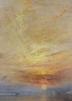 Joseph Mallord WilliamTurner, The Fighting Temeraire (detail), 1839 (x)