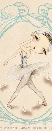 Ballet Papier | ballet drawings Swan Lake | ballet products