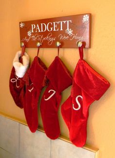 Stocking Hanger. For those of us who don't have fire places :)