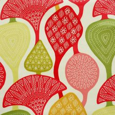 Cecilia Ruby Lime oilcloth tablecloth