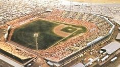 Home of the Houston Colt Colt Stadium was one known as one of the hottest ballparks for both players and fans during its existence. Sports Stadium, Stadium Tour, Yankee Stadium, Baseball Park, Baseball Stuff, Sport Park, Football Stadiums, World Of Sports, Houston Astros