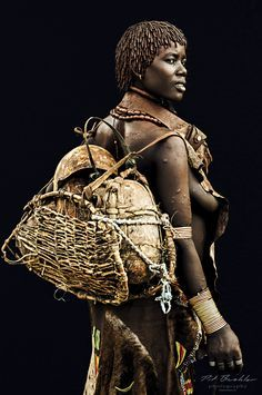 First Wife from the Hamar Tribe, Omo Valley, Southern Ethiopia.