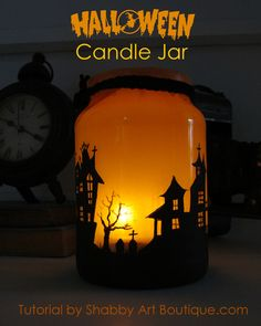How to Make a Halloween Candle Jar - Live Creatively Inspired