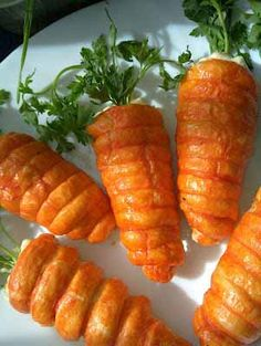 Crescent Roll Carrots Filled with Egg or Ham Salad add a festive touch to Easter Brunch - Hungry Happenings