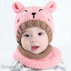3de669717cb Newborn Baby Kids Warm Hat Cotton Pom Bobble Knit Crochet Beanie Cap New   fashion