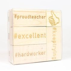Teacher Hashtag Stamp Set Stamps
