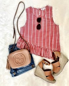 Best Casual Summer Outfits Part 24 Casual Summer Outfits, Edgy Outfits, Teen Fashion Outfits, Mode Outfits, Spring Outfits, Summer Clothes, Short Outfits, Fashion Fashion, Korean Fashion