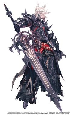 A look at an Au Ra as a dark knight, the new race AND class coming to FFXIV