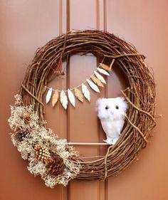 DIY Fall Wreaths - Fall Decorating and Crafts - Good Housekeeping Diy Fall Wreath, Autumn Wreaths, Christmas Wreaths, Wreath Ideas, Burlap Christmas, Spring Wreaths, Summer Wreath, Christmas Decor, Xmas