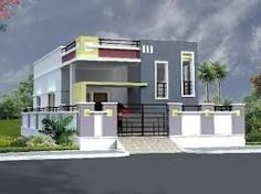 elevations of independent houses ile ilgili görsel sonucu Single Floor House Design, Home Design Floor Plans, House Front Design, Modern House Design, House Floor, Door Design, Different House Styles, India House, Modern Bungalow House