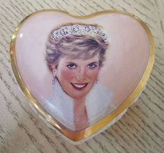 Princess Diana_Porcelain Heart shape Musica Box_Candle in the Wind of Elton John in Collectables, Royalty, Princess Diana | eBay