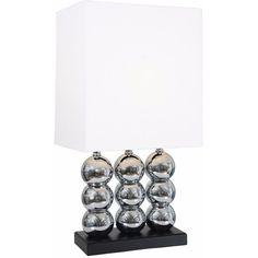 "Beautiful World, Table Lamp 29.5"" H."