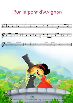 i Htmlbncomptine-partition-pont-avignon. Violin Sheet Music, Song Sheet, Music Sheets, Music Lessons For Kids, Piano Lessons, Music Is Life, My Music, Kids Piano, Kalimba
