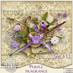 Purple Fragrance offerd by Lilas Designs on her blog - july 2014