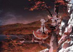 The tengu guard Youkai mountain. Momiji seems to take her duties a bit more seriously than Aya,