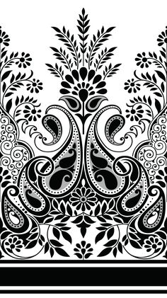 Find Paisley Indian Motif stock images in HD and millions of other royalty-free stock photos, illustrations and vectors in the Shutterstock collection. Textile Pattern Design, Textile Patterns, Pattern Art, Embroidery Neck Designs, Embroidery Motifs, Stencil Designs, Paint Designs, Mehndi, Henna