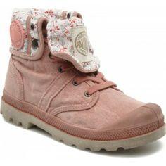 Ik vond dit op Beslist.nl: Palladium - (Kinderen) - Baggy kid - Boots en enkellaarsjes voor Kinderen / Roze Hakhoogte : 2 cm}