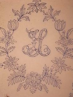 フランス、19世紀の刺繍のデザイン画。 黄ばんだトレーシングペーパーにペン書き。 トレーシングペーパーやグラシン紙のような半透明の紙が 大好...