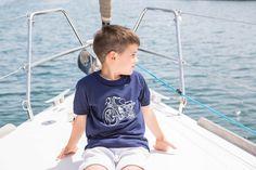 Love Adrienne//Primavera-Verano 17// Spring-Summer 17. Colección camisetas #minime. Camiseta niño  diseño moto. Disponible a juego para hombre.