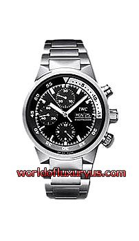 IWC - AQUATIMER AUTOMATIC CHRONOGRAPH MEN'S WATCH - 3719-28 (STAINLESS STEEL / BLACK DIAL / STAINLESS STEEL BRACELET)
