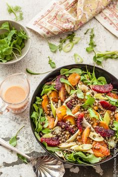 Even on the coldest and dreariest winters day, this beautiful vegan Roast Beetroot Salad with Lentils, Fennel and Blood Orange will brighten up your day. And your palate!