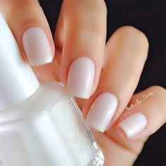 Image via We Heart It #iridescent #nails #sheer #white #essie