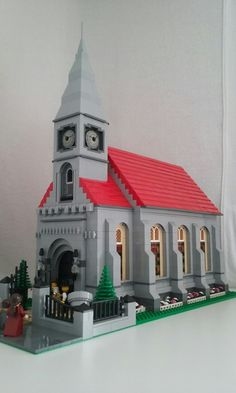 Lego, Church, modular, on two 32x32 bases.