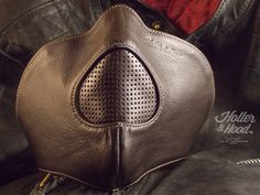 Motorcycle mask holler&hood Thunderbird hog nose/motorcycle leather mask/cafe racer mask/leather riding mask/Built for speed !! by HollerandHood on Etsy