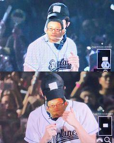 Sehun wearing a predebut Chen's mask