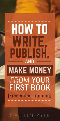 Self-publishing is an ART! Start learning the craft with this free video training. #affiliate