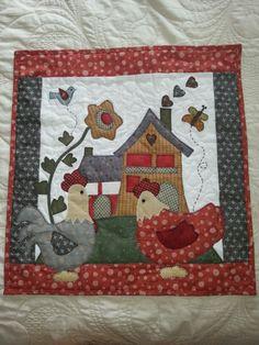toalha para fogão Quilt Block Patterns, Applique Patterns, Sewing Appliques, Quilt Blocks, Cute Quilts, Small Quilts, Mini Quilts, Wool Applique, Applique Quilts