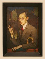 Herbert Seemann (1900 – date of death unknown) Portrait of O.Hahn, 1924, oil on canvas (Sergei P. Zubkov) Tags: november art painting czech prague praha fair palace trade 2011 palác veletržní