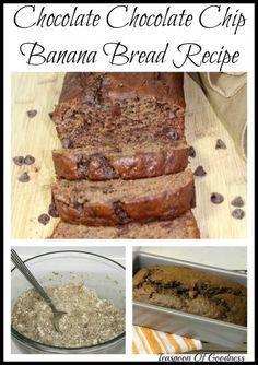 Chocolate Chocolate Chip Banana Bread Recipe - Teaspoon Of Goodness