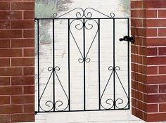 "CLASSIC4 Scroll Garden Gates 991mm 3'3"" GAP x 914mm High Wrought Iron metal gate"