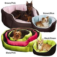 Slumber PetA Dimple Plush Nesting Beds  Cozy ClamshellStyle CottonNylon Beds for Dogs and Cats  Large 34 BlackGreen by Slumber Pet *** Read more  at the image link. (Note:Amazon affiliate link)