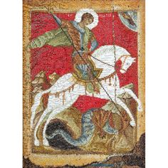 Thea Gouverneur counted-cross-stitch Kit St. George & The Dragon On Aida