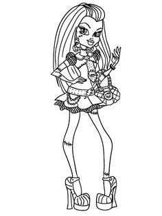 Coloring Page Monster High - Frankie Stein