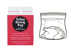 Thanks to this brining bag, our turkey slept in water, wine, and spices–soaking up a ton of flavor. When we woke up Thanksgiving morning it was ready to roast! Extra-Large Disposable Turkey Brining Bag, $7.99, kitchenkapers.com.