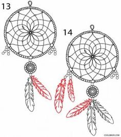 A dream catcher or dreamcatcher can be the perfect subject for a Thanksgiving holiday art project. Dream Catcher Coloring Pages, Dream Catcher Drawing, Dream Catcher Craft, Rope Drawing, Dream Catcher Patterns, Zentangle, Wood Burning Crafts, Sketches Tutorial, Zen Doodle